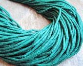 Green Turquoise Beads, Turquoise Heishi, Turquoise Tubes, SKU 2299A