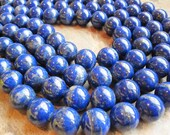 AAA Grade Lapis Lazuli 16mm Smooth Round Full Strand, SKU 2419