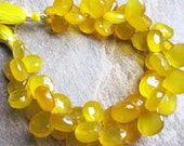 Butterscotch Yellow Chalcedony Briolettes
