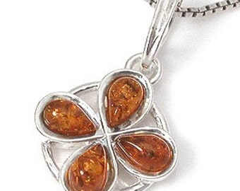 Amber Pendant, Genuine Honey Baltic Amber Sterling Silver Sun Pendant, Loveofjewelry, SKU 4830