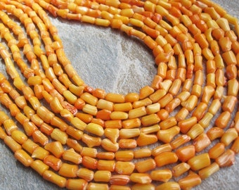 Orange Coral Beads, Branch Shape, Coral Beads, Orange Bamboo Coral, SKU 4142A