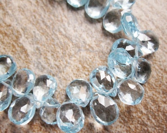 AA Swiss Blue Topaz Faceted Pear