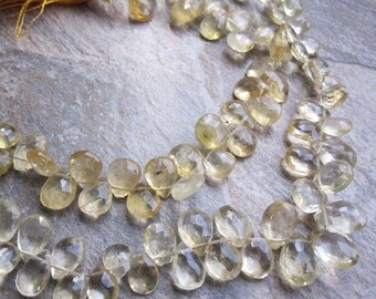 Citrine Briolette, Faceted Pear, November Birthstone, Graduated in size, SKU 2211A