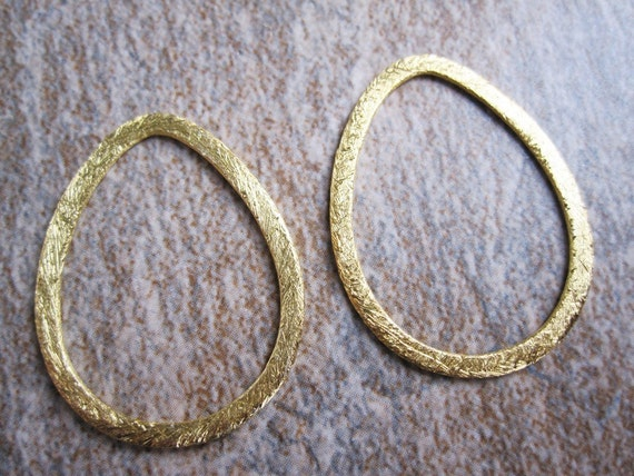 Brushed Vermeil Earring or Necklace Components