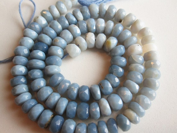 Natural Chalcedony Faceted rondelles Natural color of Chalcedony