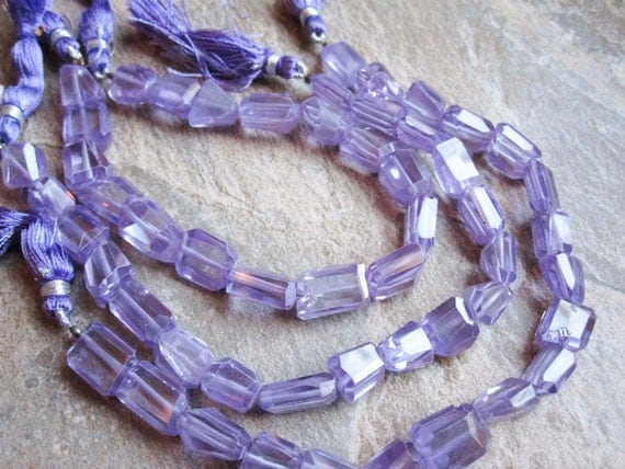 Zircon (NATURAL) Vibrant Lavender Color-Faceted Nuggets FULL STRAND