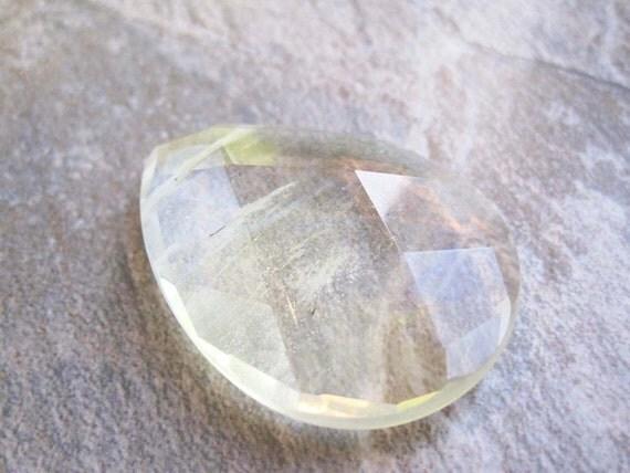 Pineapple Quartz Pear Shaped Stone Pendant or Focal Bead