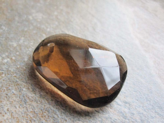 Whiskey Quartz Briolette Shaped Stone Pendant or Focal Bead