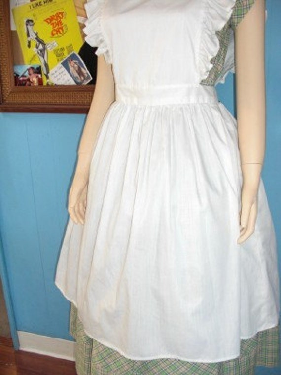 vintage white frilly full apron by forthebettys on etsy. Black Bedroom Furniture Sets. Home Design Ideas