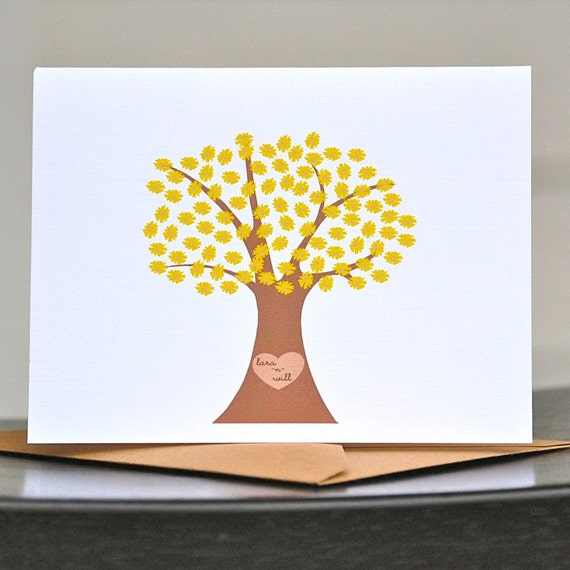 Wedding Thank You Cards . Bridal Shower Thank You Cards . Thank You Notes . Personalized Thank You Cards - Name in Blossomed Tree