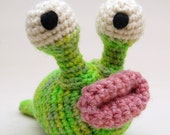 Crochet Garden Slug Amigurumi Plush Toy Pattern PDF Digital Download