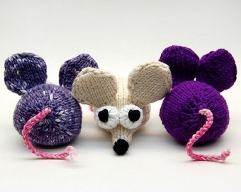Lab Mice Knit Amigurumi Plush Toy Soft Sculpture Pattern PDF Download