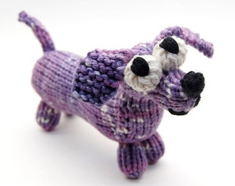 Wiener Dog Dachshund Amigurumi Knitting Pattern PDF Download