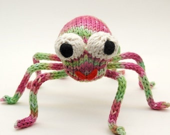 Speedy Spider Knitting Amigurumi Plush Toy Pattern Tutorial PDF Download
