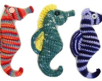 FLAT KNIT Seahorse Plush Amigurumi Toy Pattern PDF Digital Download