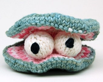Chowder Clam Knit Amigurumi Plush Toy Pattern PDF Digital Download