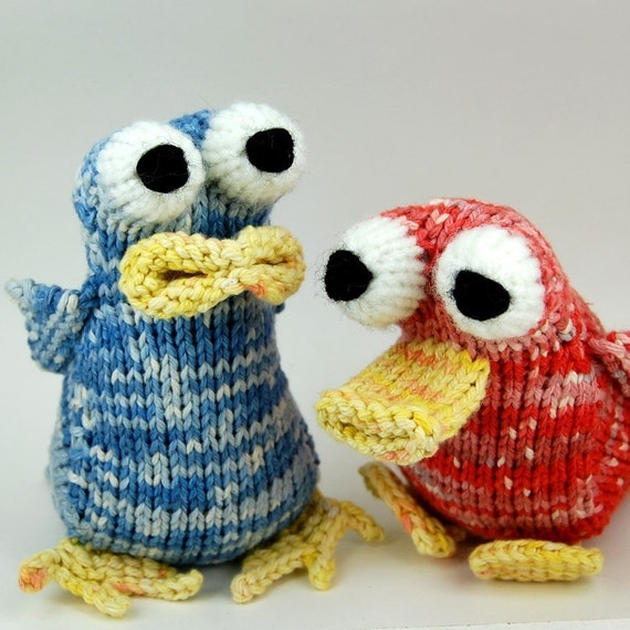 Knitting Patterns Plush Toys : Items similar to Baby Bird Amigurumi Plush Toy Knitting Pattern PDF Digital D...