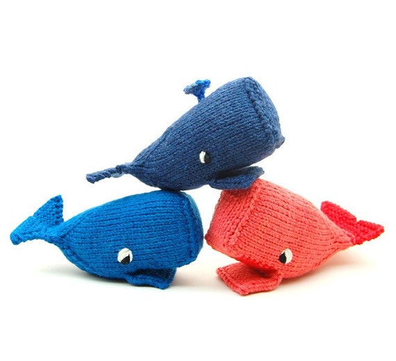 Whale Amigurumi Plush Toy Knit Pattern by cheezombie on Etsy