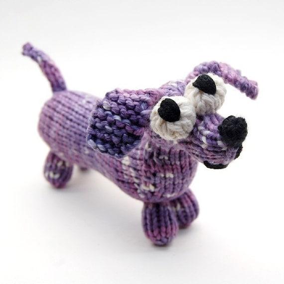 Amigurumi Knits Download : Wiener Dog Dachshund Amigurumi Plush Toy Knitting Pattern