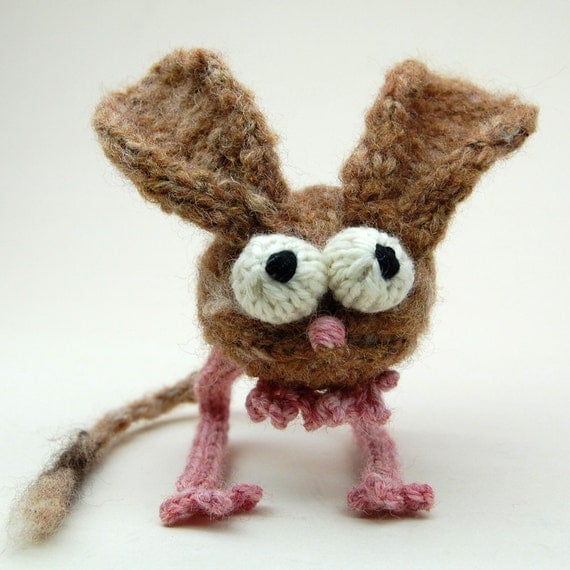 Jumpy Jerboa Amigurumi Plush Toy Knitting Pattern PDF Digital Download