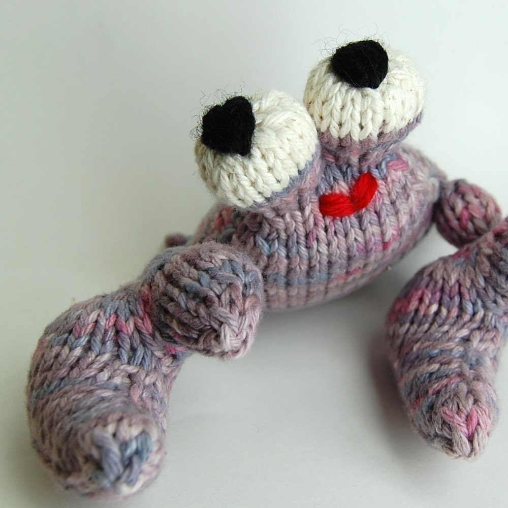 Knitting Patterns Plush Toys : UnCrabby Crab Amigurumi Knitting Plush Toy Pattern by cheezombie