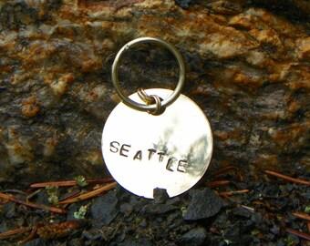 Seattle Handstamped Keychain
