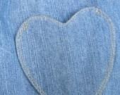 RESERVED LISTING for struddlekitty4427 - Heart Pocket Denim Jumper - Third Payment