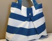 Shoulder Bag ,Everyday Purse,Canvas Blue