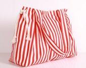 SUMMER TOTE... Shoulder Bag ,Everyday Purse,Canvas Red