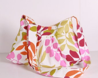 Canvas Everyday Purse , Shoulder Bag,everybay bag, Pink,Green,Orange,White..FRESH
