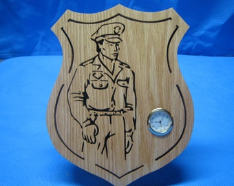 Police Officer Clock