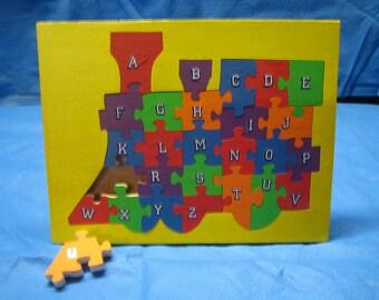 Alphabet Train Puzzle