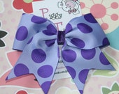 Purple and Lavender Big Dots  ... NO SLIP Classic Tylie Bow