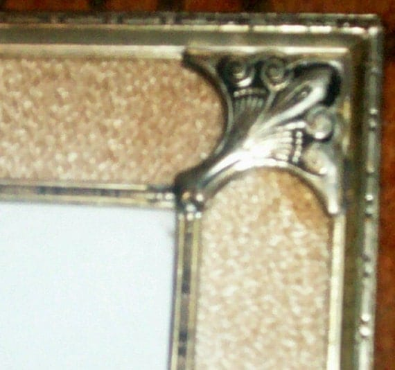 French Chic Frame picture photo photograph metal glass Hollywood FRegency vintage