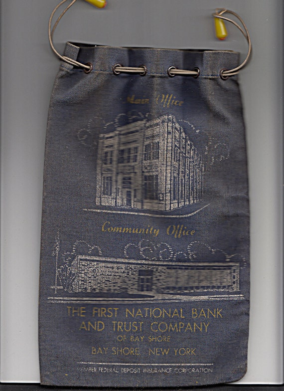 Bank Coin Bag Old Vintage Architectural Building By