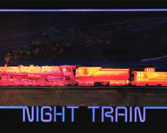Train art poster, Night Train