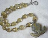Turkoman pendant necklace * lemon quartz jewelry * tribal jewelry * ethnic jewelry
