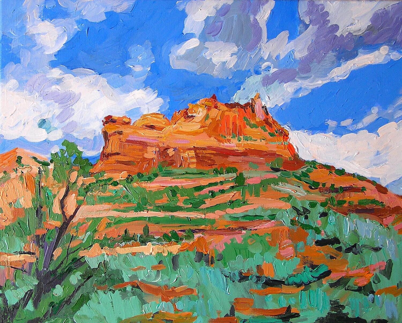 Southwestern Arizona Blue Sky Sedona Az Fine Art Print 8x10