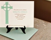 Christening or Baptism/Dedication Invitation for boy
