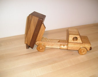 Classic Wood Dump Truck with beeswax finish
