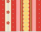 Delighted Fabric Red Stripe from Riley Blake Designs 1 Yard New