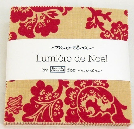 clearance lumiere de noel fabric charm pack squares by french. Black Bedroom Furniture Sets. Home Design Ideas