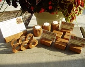 16 pc Oak table setting/accessories