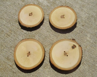 Maple craft buttons-4 pcs.-large