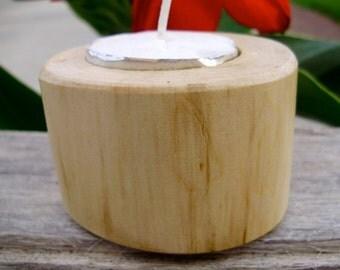 Maple tea light holder