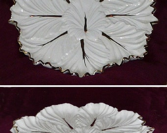 IVORY 24K GOLD  VEGETABLE COOKIE HORSDEUVRES PLATTER