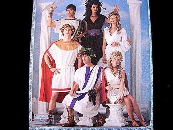Roman Toga Costume Pattern Mens Womens Adult size XS to XL UNCUT Greek Mythology