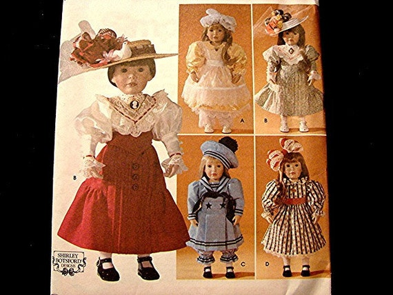 18 inch Doll Clothes Pattern - American Girl Doll Victorian Dresses - Simplicity Pattern Uncut