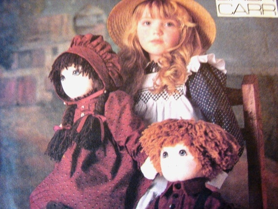 Vintage Vogue Stuffed Cloth Doll Pattern 22 inch Doll with Clothes Girl and Boy Dolls