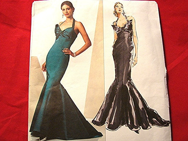 Vogue Mermaid Dress Pattern Designer Bellville Sassoon Gown